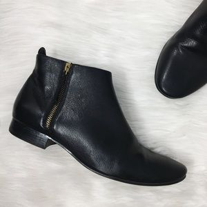 Cole Haan Black Leather Ankle Booties Boots Shoes